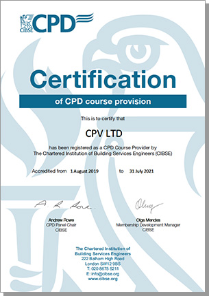 CIBSE Certificate of CPD Course Provision