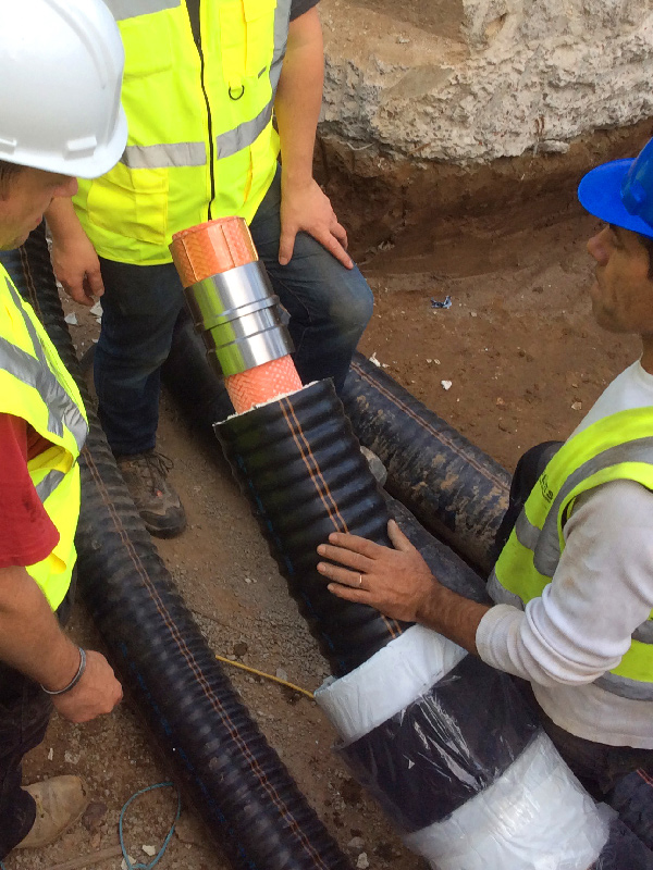 Reinforced Polymers for Jersey Heat Network