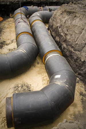 district heating - heat network pipe system